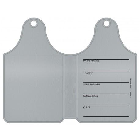 Dubbele etiketten labels voor startkaarten