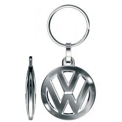 Porte-clés Volkswagen Logo 3D double face ajouré, tout métal