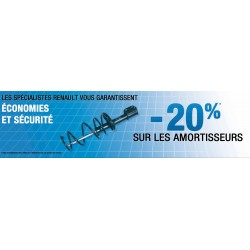 "Spannbänder Renault ""-20% SUR LES AMORTISSEURS"""