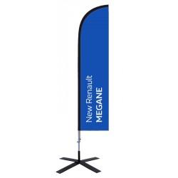 """Voile beachflag """"New Renault MEGANE"""""""