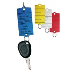 Plastic sleutel etiketten labels met metalen sleutelring