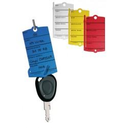 Étiquette-clé attache : languette verticale