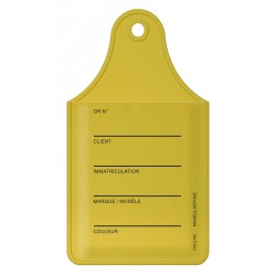 Etiquette porte-carte de démarrage