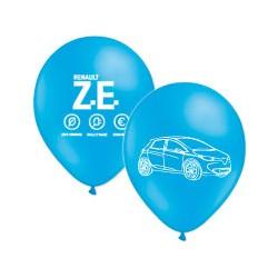 Ballons Zoe bleus imprimés blanc