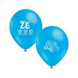 Ballons Twizy bleus imprimés blanc