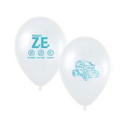 Ballons Twizy blancs imprimés bleu