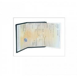 3 transparent compartments for documents