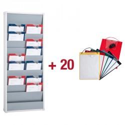 10 Werkplaatsmappen + Planningsbord met 10 x 1 vak