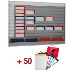 50 Werkplaatsmappen + Planningsbord met 10 x 5 vak
