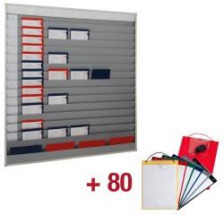 80 Werkplaatsmappen + Planningsbord met 10 x 5 vak