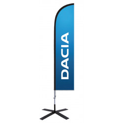 "Voile beachflag ""DACIA"""