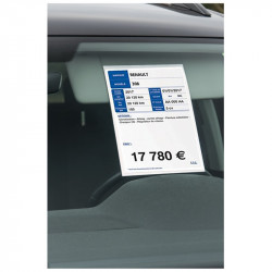 PRICE SHEET HOLDER A4 FOR SUN VISOR