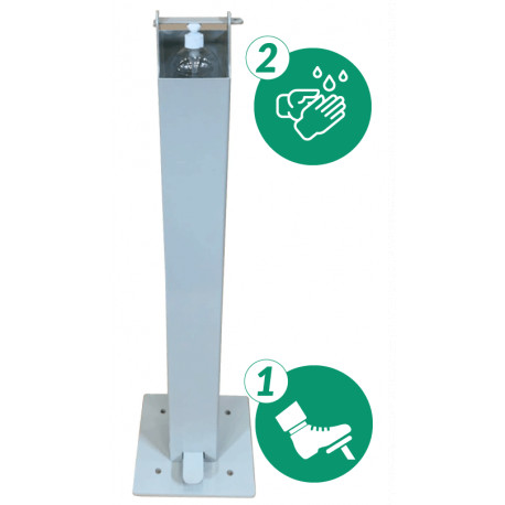 TOUCHLESS GELDSPENDER WITH FOOT CONTROL