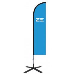 """Voile beachflag """"ZE"""""""