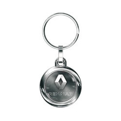Keychains Token (dim. 1€) metal, with carabiner hook