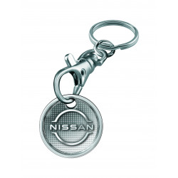 Token (dim. 1€) metal, with carabiner hook