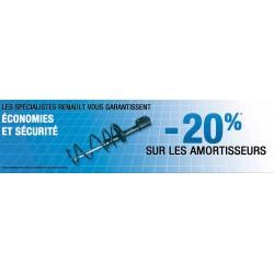 """Banderole Renault """"-20% SUR LES AMORTISSEURS"""""""