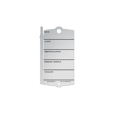 Plastic key-tags