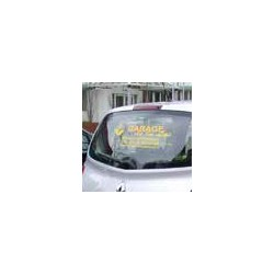 Rear windscreen cut letters kit sticker (60 x 25cm) x 10