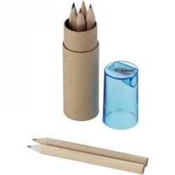 Mini 6 pencils set and pencil sharpener - unit price per 100 pieces.