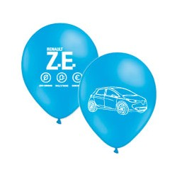 """Zoe"" blue balloons with white printing Ø 30cm"