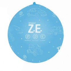"""Ze"" giant balloon blue with white print Ø 100cm"