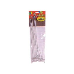 White balloons rods - per 500 pieces