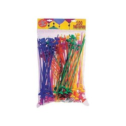 Balloons rods, different colors - per 500 pieces