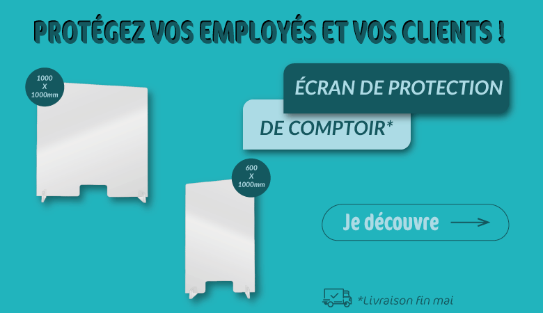 ECRAN PROTECTION DE COMPTOIR